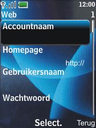 Nokia 6600 slide - Internet - Handmatig instellen - Stap 8