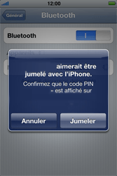 Apple iPhone 4 - Bluetooth - connexion Bluetooth - Étape 9