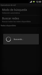 Sony Xperia J - Red - Seleccionar una red - Paso 7