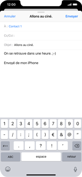 Apple iPhone XS Max - E-mails - Envoyer un e-mail - Étape 8