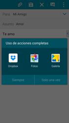 Samsung G900F Galaxy S5 - E-mail - Escribir y enviar un correo electrónico - Paso 12