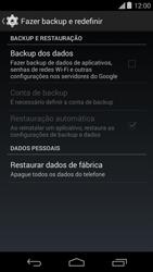 Motorola Moto E (1st Gen) (Kitkat) - Funções básicas - Como restaurar as configurações originais do seu aparelho - Etapa 5