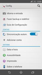 Sony Xperia E4G - Funções básicas - Como restaurar as configurações originais do seu aparelho - Etapa 6