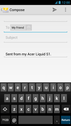 Acer Liquid S1 - Email - Sending an email message - Step 7