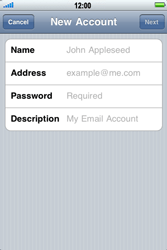 Apple iPhone 3G S - Email - Manual configuration - Step 7
