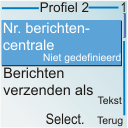 Nokia 6030 - SMS - handmatig instellen - Stap 8