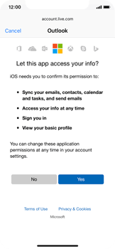 Apple iPhone X - Email - 032c. Email wizard - Outlook - Step 8