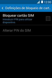 Samsung Galaxy Young II - Segurança - Como ativar o código PIN do cartão de telemóvel -  6