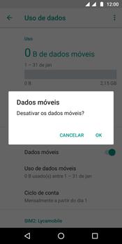 Motorola Moto G6 Plus - Rede móvel - Como ativar e desativar uma rede de dados - Etapa 7
