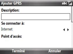 HTC S521 Snap - Internet - Configuration manuelle - Étape 7