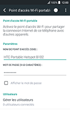 HTC U Play - Internet et connexion - Partager votre connexion en Wi-Fi - Étape 14