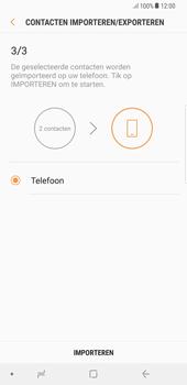 Samsung Galaxy S8+ - Android Oreo (SM-G955F) - Contacten en data - Contacten kopiëren van SIM naar toestel - Stap 13
