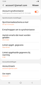 Samsung Galaxy S8+ - Android Pie (SM-G955F) - E-mail - Instellingen KPNMail controleren - Stap 9