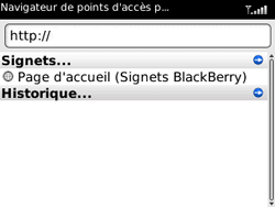 BlackBerry 8520 Curve - Internet - Navigation sur Internet - Étape 3