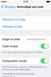Apple iPhone 4S (iOS 8) - Sécuriser votre mobile - Activer le code de verrouillage - Étape 7