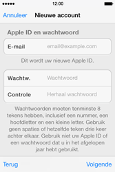 Apple iPhone 4 S - iOS 7 - apps - account instellen - stap 12