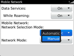BlackBerry 9360 Curve - Network - Usage across the border - Step 6