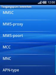 Sony Ericsson Xperia X10 Mini - Mms - Handmatig instellen - Stap 9