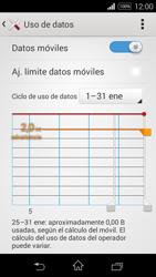 Sony D2203 Xperia E3 - Internet - Ver uso de datos - Paso 5