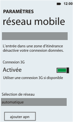 HTC C110e Radar - Internet - Configuration manuelle - Étape 6