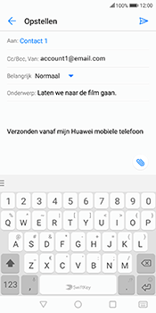 Huawei Mate 10 Lite - E-mail - Bericht met attachment versturen - Stap 8