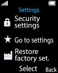 Nokia 108 - Device maintenance - How to do a factory reset - Step 5