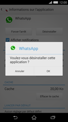 Sony Xperia Z2 - Applications - Supprimer une application - Étape 7