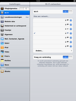 Apple iPad 2 - Wifi - handmatig instellen - Stap 7