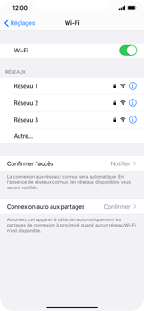 Apple iPhone XR - iOS 13 - Wifi - configuration manuelle - Étape 4
