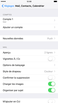 Apple Apple iPhone 6s Plus iOS 9 - E-mail - Configurer l