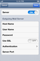 Apple iPhone 4 S iOS 6 - Email - Manual configuration - Step 14