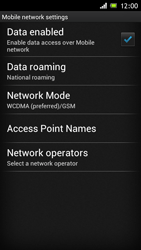 Sony ST26i Xperia J - Network - Usage across the border - Step 6