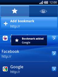 Sony Ericsson Xperia X10 Mini - Internet - Internet browsing - Step 6