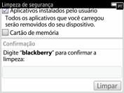 BlackBerry 9620 - Funções básicas - Como restaurar as configurações originais do seu aparelho - Etapa 7