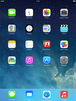 Apple iPad 4th generation iOS 7 - Wifi - configuration manuelle - Étape 1