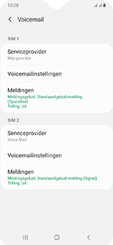 Samsung galaxy-a20e-dual-sim-sm-a202f - Voicemail - Handmatig instellen - Stap 8