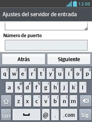 LG Optimus L3 II - E-mail - Configurar correo electrónico - Paso 11