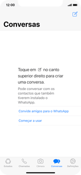 Apple iPhone X - Aplicações - Como configurar o WhatsApp -  14