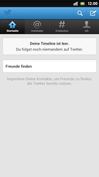 Sony Xperia S - Apps - Twitter einrichten - Schritt 10