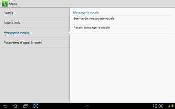Samsung P5100 Galaxy Tab 2 10-1 - Messagerie vocale - configuration manuelle - Étape 7