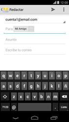 Motorola Moto X (2ª Gen) - E-mail - Escribir y enviar un correo electrónico - Paso 7