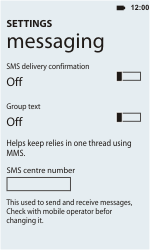 HTC C110e Radar - SMS - Manual configuration - Step 4