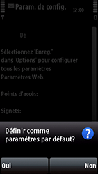 Nokia 5800 Xpress Music - Paramètres - Reçus par SMS - Étape 5