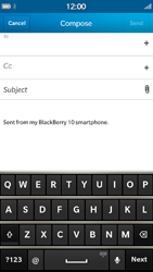 BlackBerry Z30 - Email - Sending an email message - Step 6
