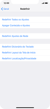 Apple iPhone X - iOS 12 - Funções básicas - Como restaurar as configurações originais do seu aparelho - Etapa 5
