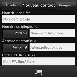 BlackBerry Q10 - Contact, Appels, SMS/MMS - Ajouter un contact - Étape 5