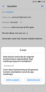 Huawei Mate 10 Lite - E-mail - Bericht met attachment versturen - Stap 11