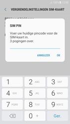 Samsung Galaxy A3 (2017) - Android Nougat - Beveiliging en ouderlijk toezicht - Hoe wijzig ik mijn SIM PIN-code - Stap 8