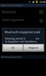 Samsung I9070 Galaxy S Advance - Bluetooth - koppelen met ander apparaat - Stap 11