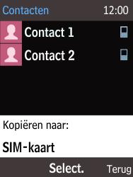 Nokia 216 - Contacten en data - Contacten kopiëren van toestel naar SIM - Stap 7